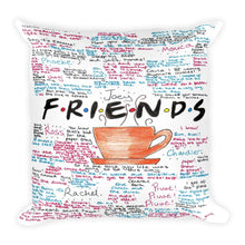 Load image into Gallery viewer, friends tv show sayings printed on a throw cover Funkchez