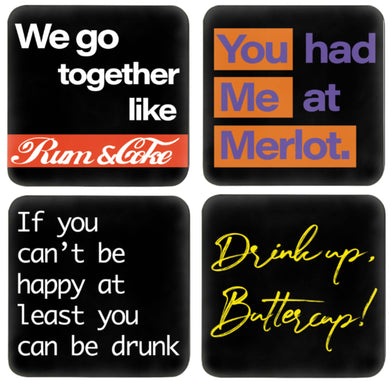 funky bar coasters set of 4 - FunkChez