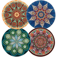 Load image into Gallery viewer, funky indian coasters set of 4