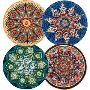 funky indian coasters set of 4