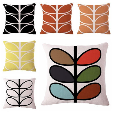 funky leaves throw cushion cover set of 6 - FunkChez