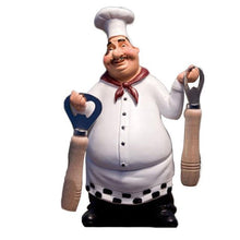 Load image into Gallery viewer, 1 chef figurine statue with 2 bottle openers