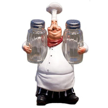 Load image into Gallery viewer, 1 chef figurine statue holding a salt and pepper shaker