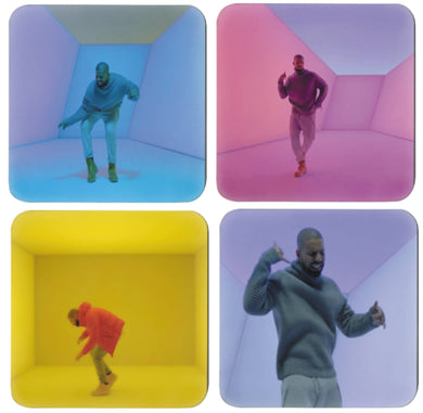 4 hotline bling video drake coasters - FunkChez