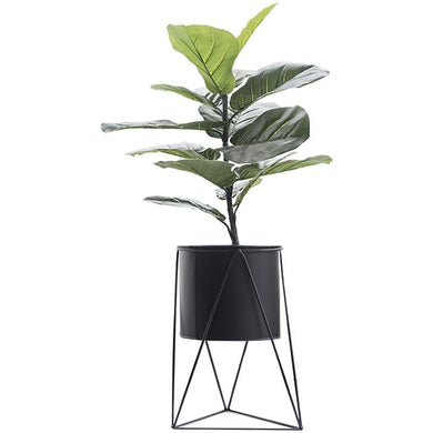 INNO BLACK COLOR FLOOR PLANTER WITH PLANT- FUNKCHEZ
