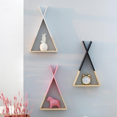 3 KIENNE WALL RACKS WITH DECOR DISPLAYED ON A GREY WALL
