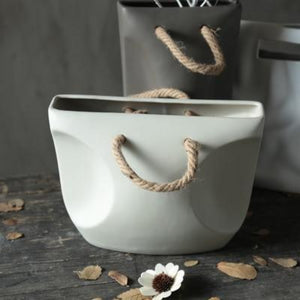 white luna planter pot