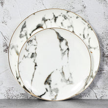 Load image into Gallery viewer, 2 plates from the Marbella dinnerware set in an 8 inch and 10 inch