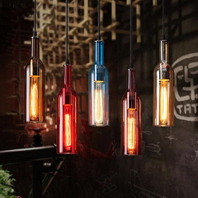 5 MEXICAN BOTTLE LIGHTS IN DIFFERENT COLOURS