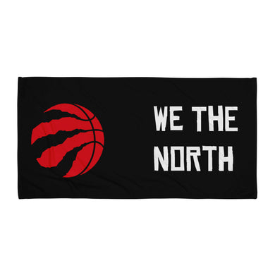 we the north with raptors logo printed on a beach towel - FunkChez