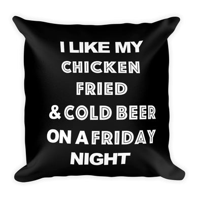 chicken fried lyrics printed on a throw pillow FunkChez