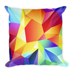 Maya square throw cover in abstract colours with pillow - FunkChez