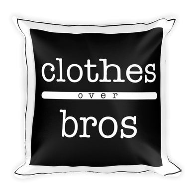 clothes over bros printed on a throw pillow -FunkChez