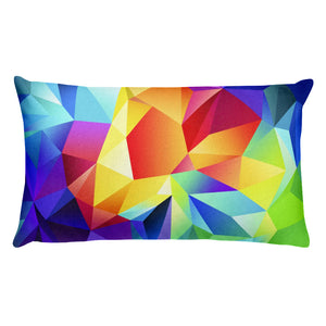 Maya rectangular throw cover in abstract colours with pillow - FunkChez