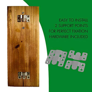 mounted rustic beer bottle opener with installation instructions and screws