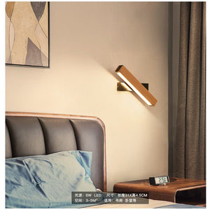 NOAH ADJUSTABLE LAMP DISPLAYED IN A BEDROOM AS A SIDE LAMP