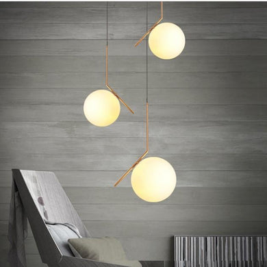 Peru ball pendant lights in a living room