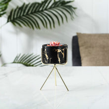 Load image into Gallery viewer, Nordic Gold Infused Porcelain Marble Planter
