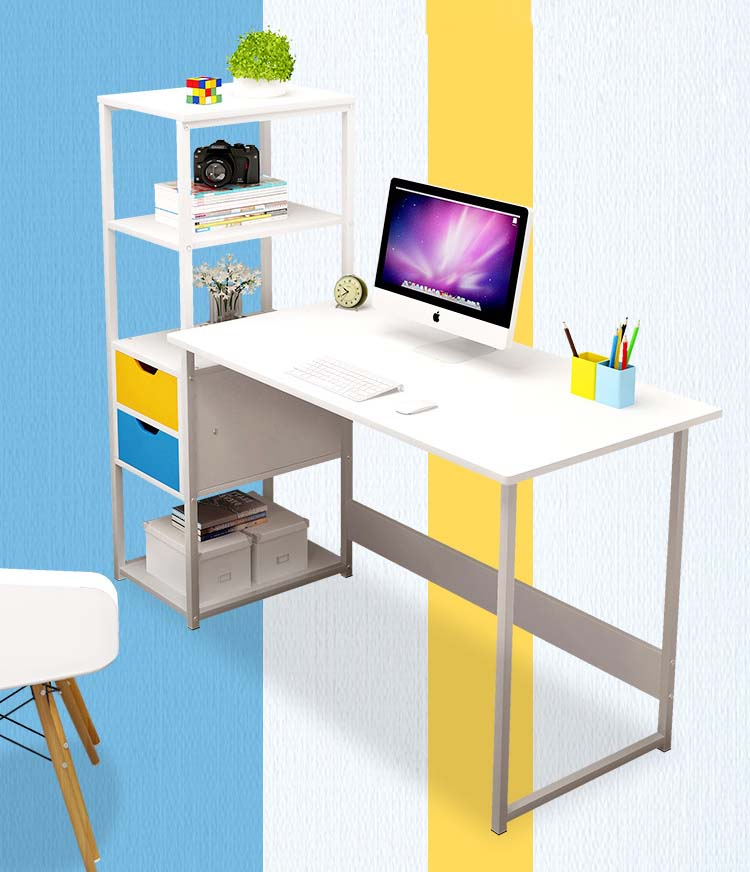Student Desk with Bookshelf Bedroom Computer Desk Dressing Table Corner Table