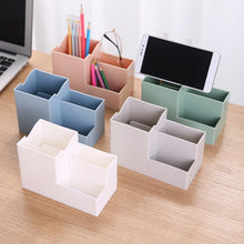 Load image into Gallery viewer, 1 PCS TV remote control plastic storage rack mobile phone holder washable home office storage box desktop pen holder organizer