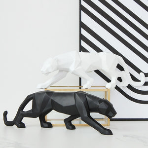 Modern Abstract Panther Sculpture
