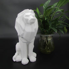Load image into Gallery viewer, Creative Lion Resin Statue Abstract Black White Lion Animal Power Figurine Sculpture For Home Decorations Attic Ornaments Gifts