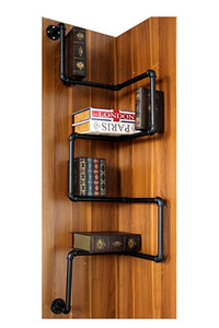 INDUSTRIAL BOOK RACK ON A WALL