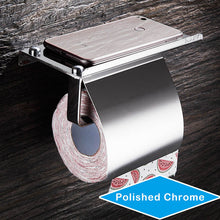 Load image into Gallery viewer, The Loo Ledge: Single Toilet Paper Holder with Phone Shelf - Note: Stainless Steel Construct