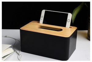 large banbo tissue box holder for storing your phone