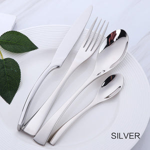4 cutlery pieces in silver colour from the nordane cutlery set collection