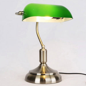 Bond Street - Traditional Antique Green Bankers Table  Office Desk Lamp Lounge Light  110V 220V 230V