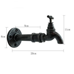 julius wall bracket in the shape of a tap with measurements