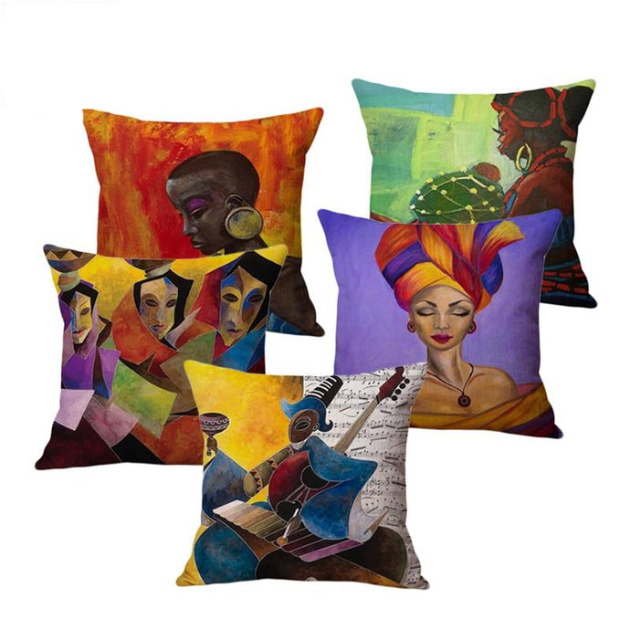 5 cushion covers from the beaute culture throw collection