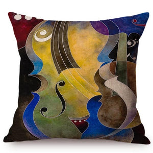 cushion cover with an image of an instrument