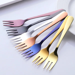 FUNKY DESSERT FORKS SET OF 7