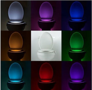 motion sensor 8 led changing toilet bowl lights FunkChez