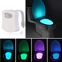 Load image into Gallery viewer, motion sensor 8 led changing toilet bowl lights FunkChez