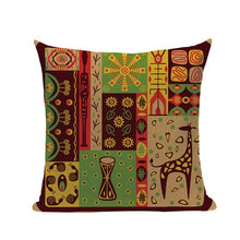 Load image into Gallery viewer, cushion cover with abstract african tribal images