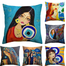 Load image into Gallery viewer, 6 cushion covers from the arabic throw cushion cover collection