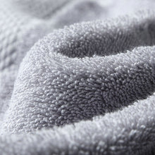 Load image into Gallery viewer, close up of a grey cotton towel