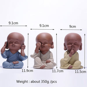 no evil baby figurines set of 3 with size specifications