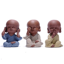 Load image into Gallery viewer, speak no evil, hear no evil and see no evil mini baby figurines