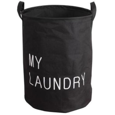 Quirky and fun laundry basket with handles and quote