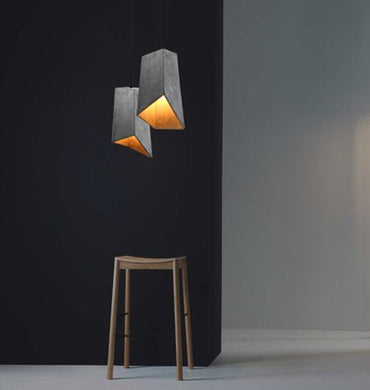 scala cement pendant lights