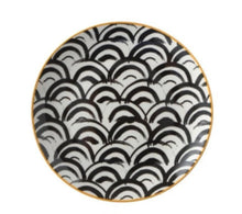 Load image into Gallery viewer, BLACK AND WHITE ABSTRACT DESIGN SEPHORA PLATE - FUNKCHEZ