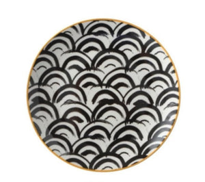 BLACK AND WHITE ABSTRACT DESIGN SEPHORA PLATE - FUNKCHEZ