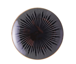 BLACK AND WHITE LINES SEPHORA PLATE- FUNKCHEZ