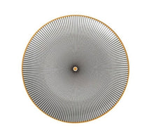 Load image into Gallery viewer, BLACK AND WHITE WITH GOLD PLATED TRIM SEPHORA PLATE- FUNKCHEZ