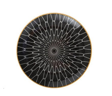 Load image into Gallery viewer, black and white geometric design dinner plate - FUNKCHEZ