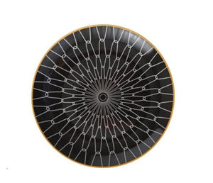black and white geometric design dinner plate - FUNKCHEZ